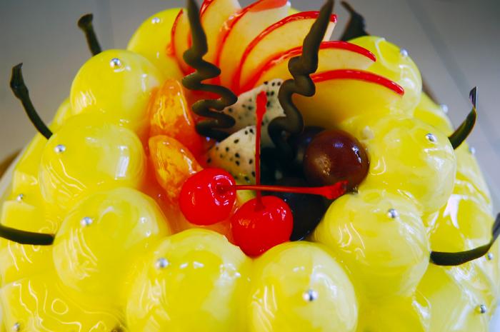 青苹果蛋糕10英寸欧式水果巧克力蛋糕1个