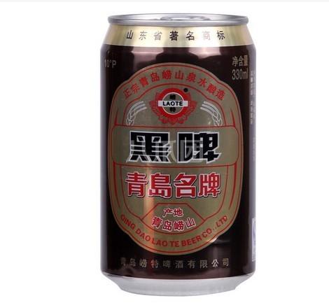青岛崂特黑啤酒/330ml/听